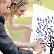 Diy картина в форме дерева отпечаток пальца холст детский душ