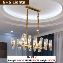 купить Luxury Modern Crystal Chandelier Lighting For Living Room Bedroom LED Light Copper Lamp Villa Lamps Indoor Lights Fixture New по цене 20060.41 рублей