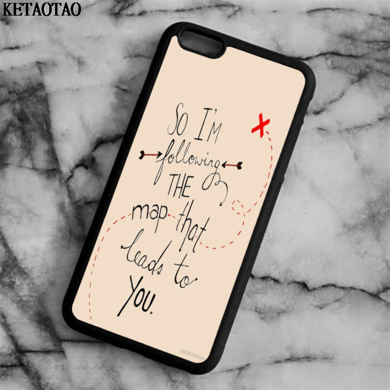KETAOTAO Maroon 5 American Band Lyrics Phone Cases for iPhone 4S 5C 5S 6 6S 7 8 Plus X for Samsung Case Soft TPU Rubber Silicone