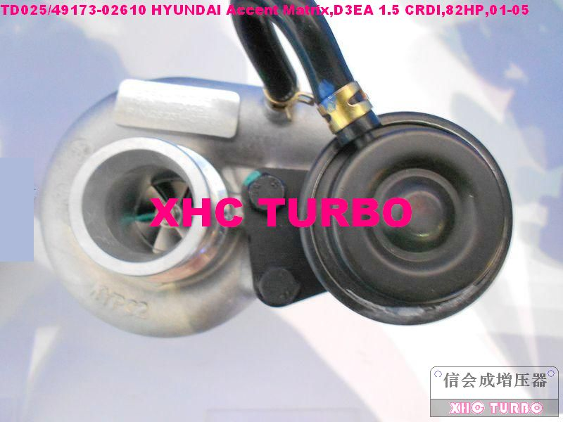 NEW TD025/49173 02610 28231 27500 Turbo Turbocharger for HYUNDAI Accent Matrix D3EA 1.5 CRDI 82HP 01 05|turbocharger mercedes|turbocharger td04|turbocharger offers - title=
