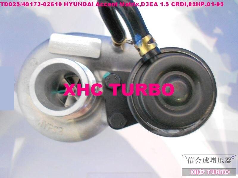 Otomobiller ve Motosikletler'ten Turbo Şarj ve Parçaları'de YENI TD025/49173 02610 28231 27500 Turbo hyundai için turboşarj Accent Matrix  D3EA 1.5 CRDI  82HP  01 05 title=