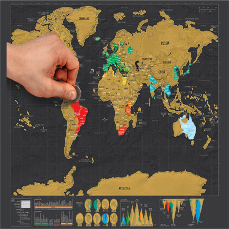 New mini black deluxe travel scratch world map poster traveler new mini black deluxe travel scratch world map poster traveler vacation log gift scratch off world map gifts ideas free shipping in map from office school gumiabroncs Image collections