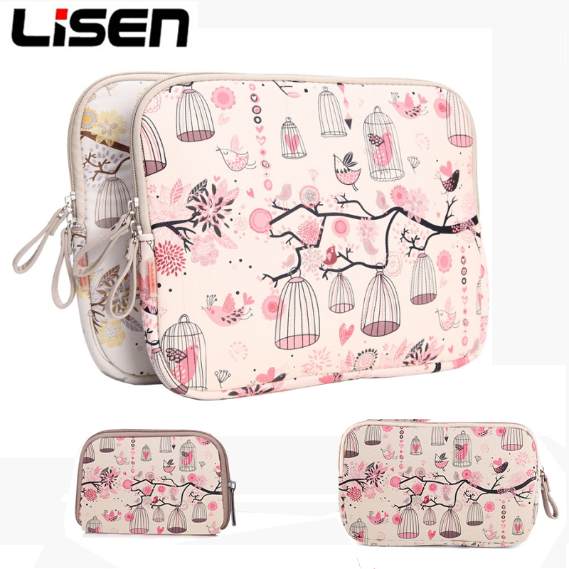PU Laptop Sleeve Case with Power Pouch For New iPad Mini Air Sleeve Bag For HP Dell MacBook Xiaomi Air Pro 11 12 14 13.3 15.6