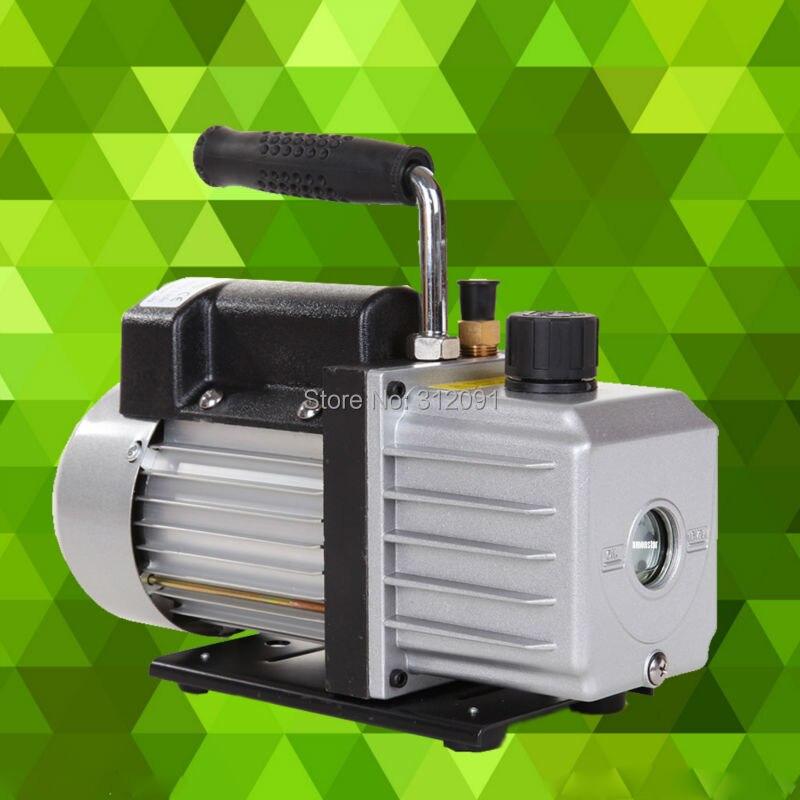 Étape unique 2.5CFM 1/4HP pompe à vide huile pompe rotative à palettes profonde cvc outil Air AC R410a R134 réfrigération