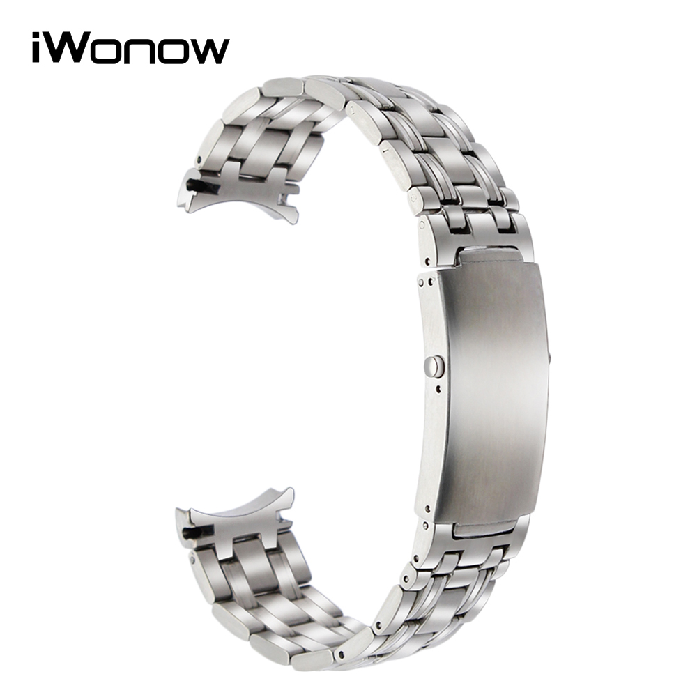 20mm Curved End Stainless Steel Watchband + Tool for Omega Seamaster 007 Watch Band Wrist Strap Replacement Belt Bracelet Silver stainless steel cuticle removal shovel tool silver