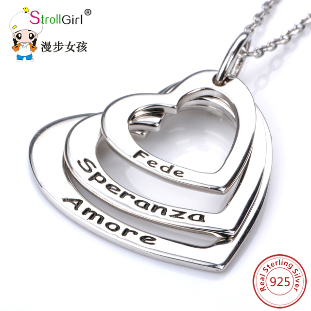 Stroll girl 925 sterling silver chain pendant choker necklace stroll girl 925 sterling silver chain pendant choker necklace jewelry heart love customized necklaces pendants aloadofball Choice Image