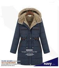 2016 мода новый женщины ватные куртки tkick хлопок длинное пальто с капюшоном с длинным рукавом Большой размер 4XL женский пальто зима парки