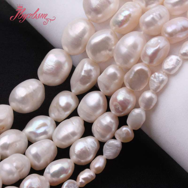 5-7/8-9/9-10/10-11mm White Potato Natural Freshwater Pearl Beads Stone For Women DIY Jewelry Making Necklace Bracelet Loose 15