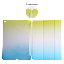 For iPad Pro Tree Folds Rainbow Color Gradual Changing Wake Sleep Smart capa for iPad Pro