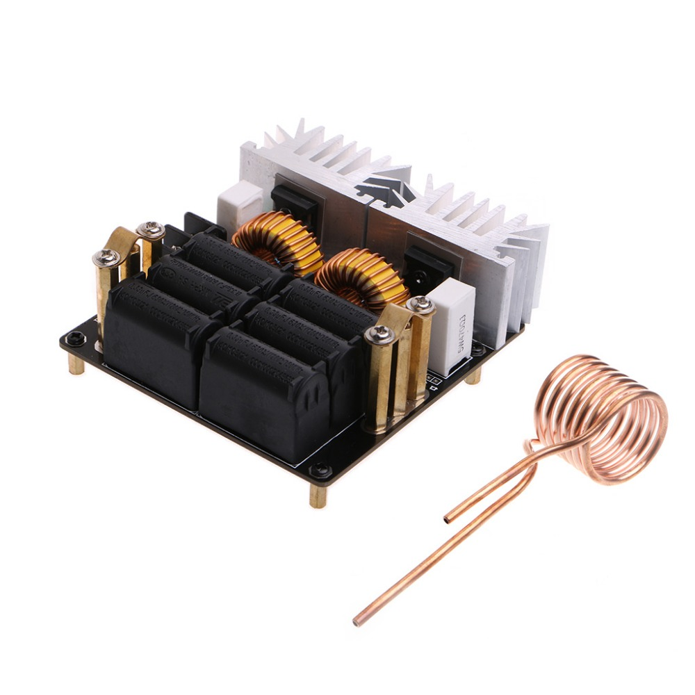 20A 1000W 12V-48V ZVS Low Zero Voltage Induction Heating Board Module DIY zvs high frequency induction heating 1800w high frequency machine without tap zvs