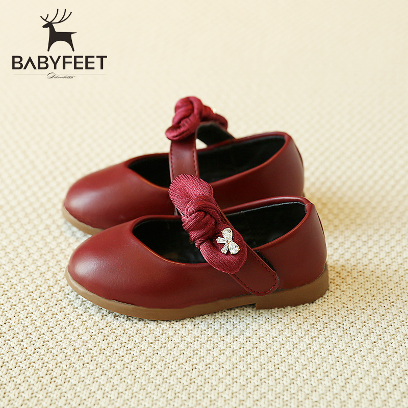 2017 Babyfeet Princess shoes Party shoes for girl infant kids Children shoes wedding PU leather butterfly toddler girl infantil