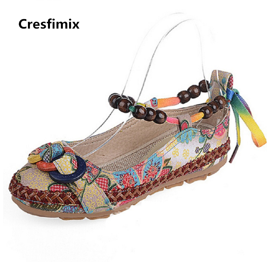 Cresfimix women cute spring & summer slip on flat shoes lady retro comfortable flat shoes female leisure street shoes zapatos cresfimix women cute black floral lace up shoes female soft and comfortable spring shoes lady cool summer flat shoes zapatos