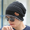 Boys Men Winter Hat Knit Scarf Cap Winter Hats for Men Caps Warm Fur Skullies Beanie Bonnet Hat Man 2016 Mens Winter Hats