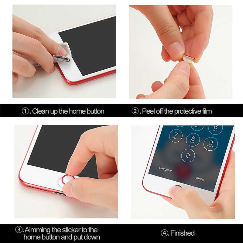 สติกเกอร์ปุ่ม Home สนับสนุน Protector ลายนิ้วมือปลดล็อค Touch Key ID ปุ่มกด Keycap สำหรับ IPhone 8 7 6 6S Plus 5s 5 SE สำหรับ iPad