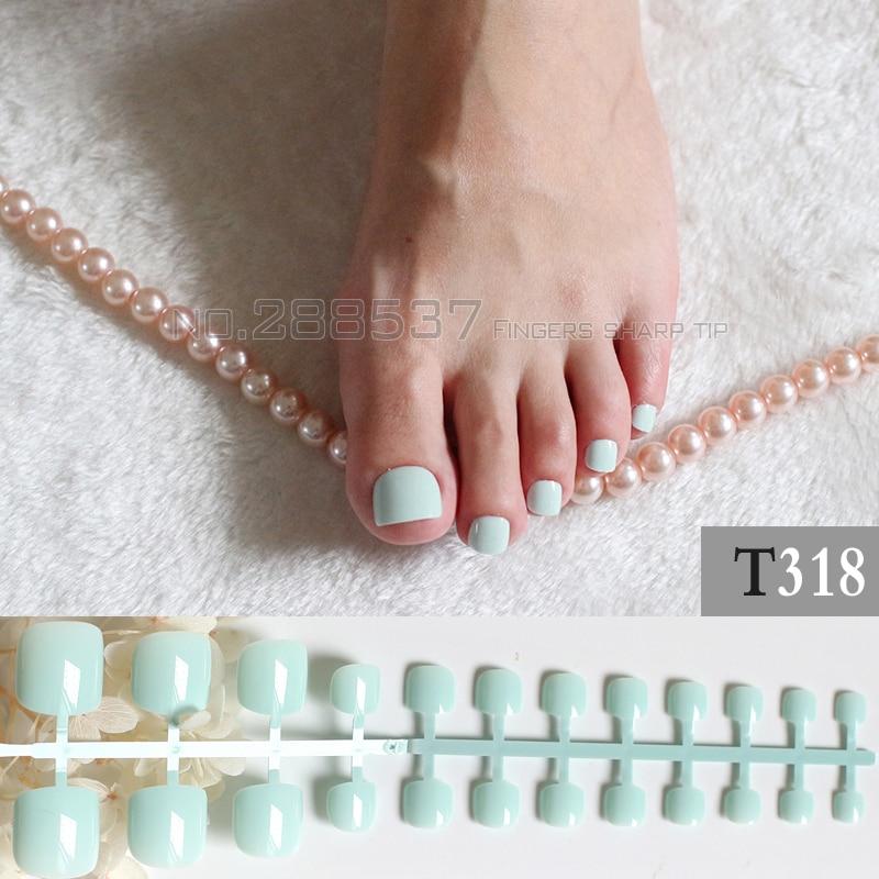 pcs artificial candy nails mint