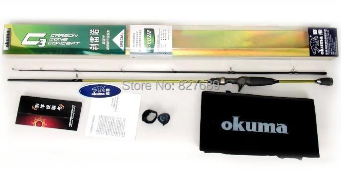 2.1m okuma fishing rod c-3c-702m lure rod carbon fiber material