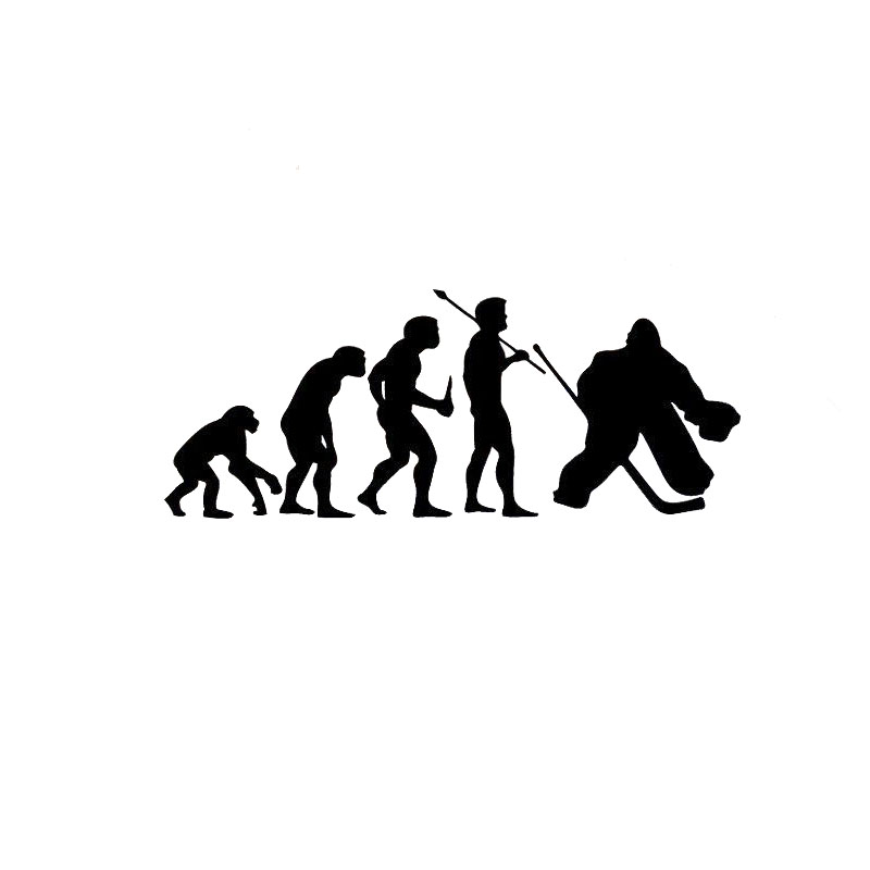 15.2*6CM Evolution Hockey Funny Car Stickers Personalized Motorcycle Vinyl Decals Black/Silver C7-1240