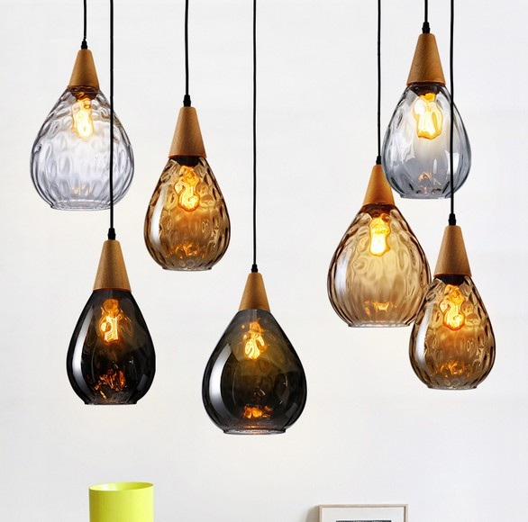 Loft Style Creative Wood Glass Droplight Edison Vintage Pendant Light Fixtures For Dining Room Hanging Lamp Indoor Lighting loft style iron vintage pendant light fixtures edison industrial droplight for dining room hanging lamp indoor lighting
