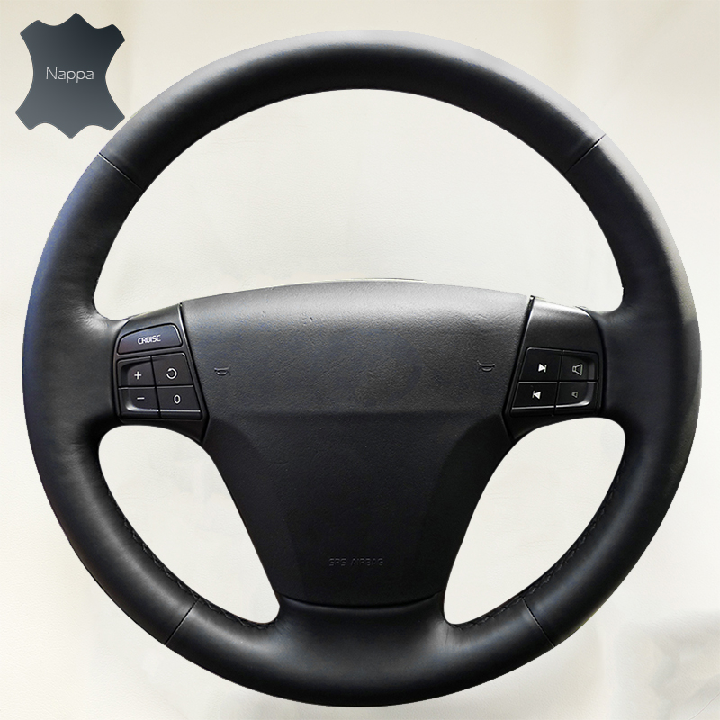 Steering Wheel Cover for Volvo S40 2006-2012 V50 2005-2011 Car accessories Breathable Nappa Leather Braid on the steering wheel