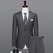 Grey striped suit