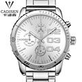 cadisen Watches Men Luxury Brand Stainless Steel Business Casual Watch Quartz Watches relogio masculino Swiss watch