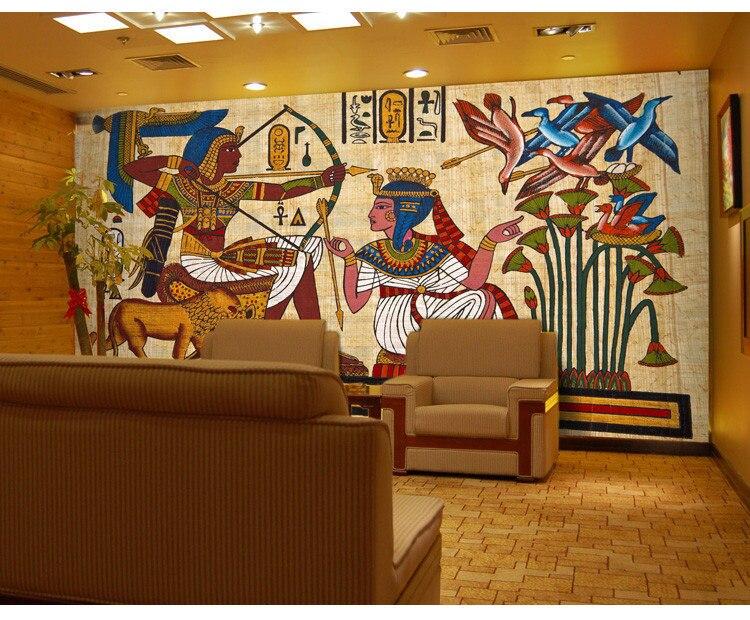 Ancient Egyptian Murals Dream Living Room Bedroom TV Background Wall Paper 3D Custom Photo Mural Wallpaper