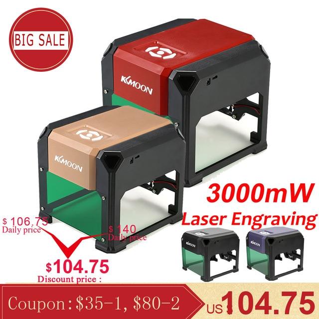 KKmoon 3000 mW חדש במהירות גבוהה לייזר חריטת מכונת USB DIY CNC לייזר חרט מדפסת אוטומטי מלאכת עץ שריפת כלים