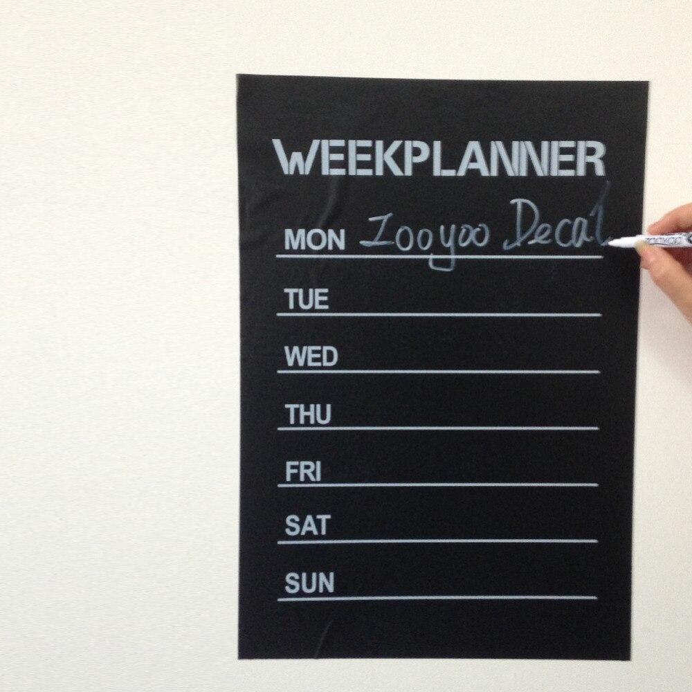 Hot Week Planer chalkboard decal blackboard home decoration wall sticker nursery note office school decor kid student gift