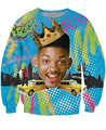 So Fresh Will Smith Crewneck Sweatshirt Sexy Sweats Will Smith Fresh Prince of Bel Air vibrant jumper Tops For Unisex Women Men