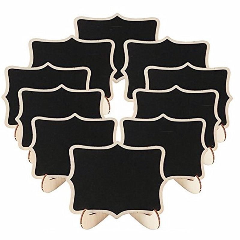5pcs/Lot Lace Shape Wooden Mini Blackboard Message BoardFor Wedding Party Decorations Chalkboards