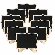 5pcs/Lot Lace shape Wooden mini blackboard Message boardFor Wedding Party Decorations chalkboards