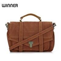 Big Satchel Messenger Bag Women Retro Suede Leather Designer Crossbody Bags For Women Briefcase Postman Bag