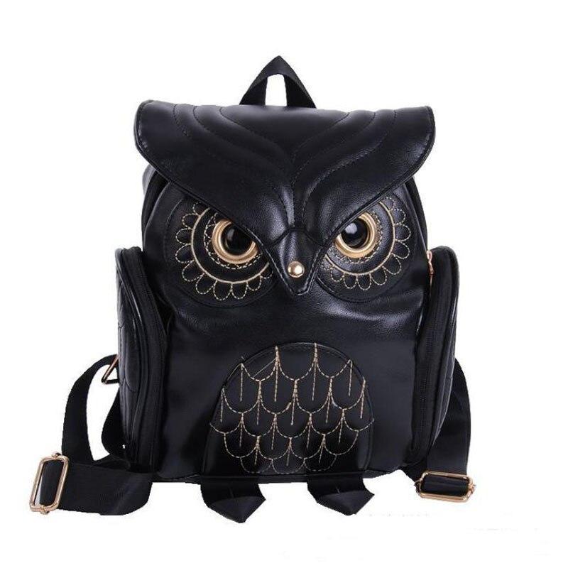 Fashion Women Backpack Cool Black Owl Diaper Bag Pu Large Capacity Baby Care Newborn Nursing New Stylish Mummy Ny Mbg0275
