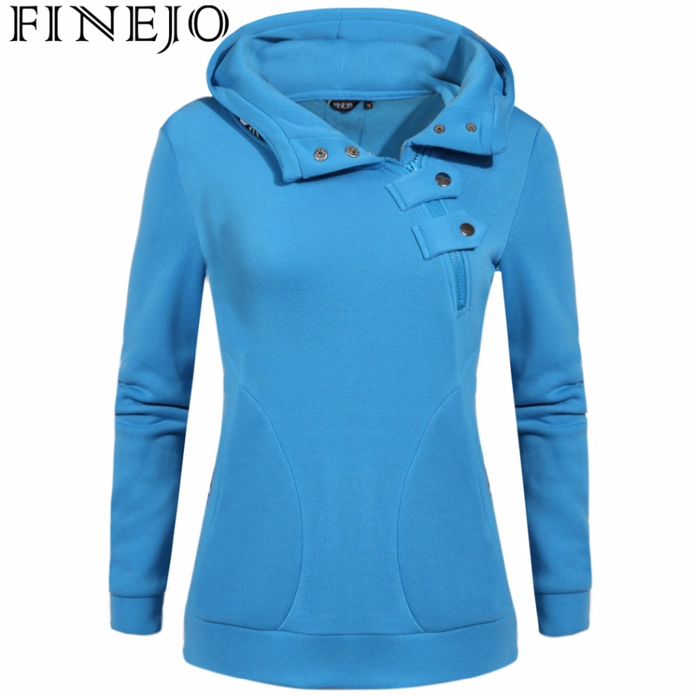 FINEJO Autumn Women Hoodies Printing Sweatshirts Long Sleeve Casual Warm Pullovers M-3XL Plus Size Women Zipper Coats
