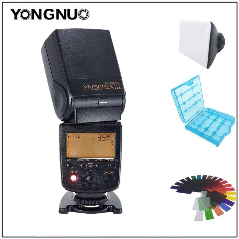 Yongnuo YN568EX III YN-568EX III Беспроводной ttl HSS Вспышка Speedlite для Nikon d5300 d7200 d3400 d7000 для Canon 1300d 6d 1100d750d