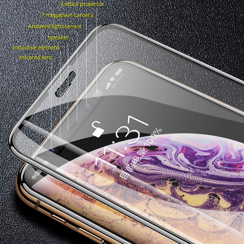 Image 4 - 35D Curved Edge Full Cover Protective Glass On The For iPhone 7 8 6 6S Plus Tempered Screen Protector For X XR XS Max Glass Film-in Phone Screen Protectors from Cellphones & Telecommunications