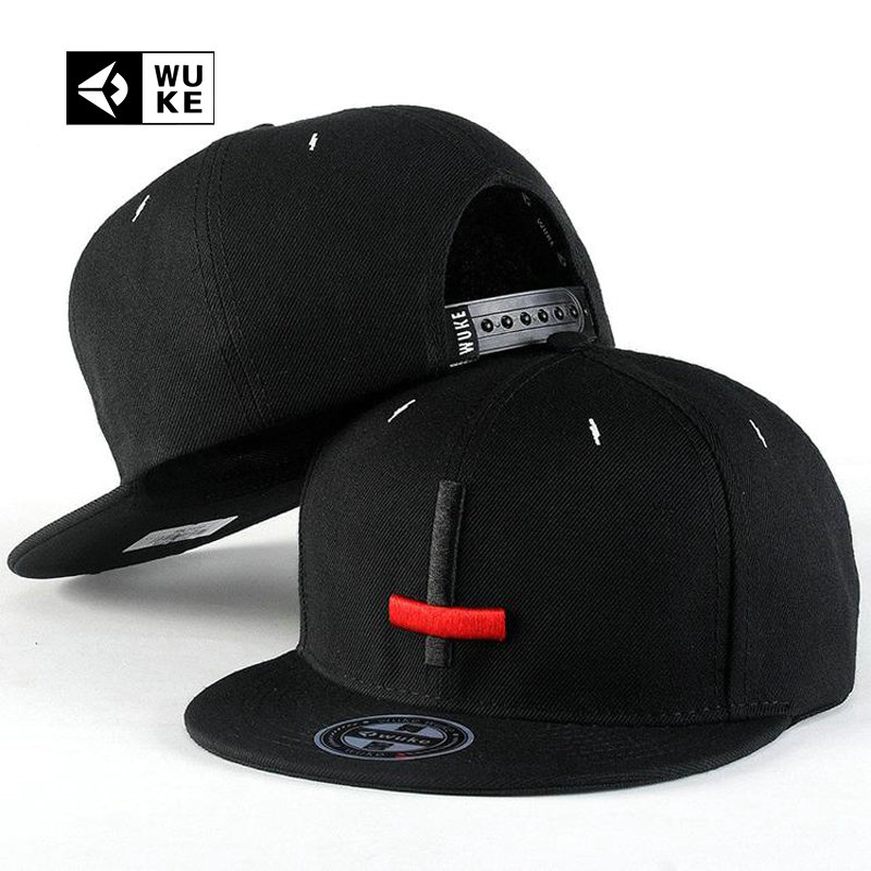 [WUKE] Summer Embroidery Cross Hip Hop Snapback Hats For Man Woman Flat Brim Baseball Caps Black casquette de marque Adjustable цены онлайн