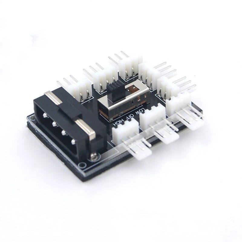 8 Порта 3pin TX3 Кулер/Вентилятор Охлаждения Мощность кабель Концентратор Splitter Адаптер W/12 В/7 В Переключатель, Мощность Molex 4pin или SATA 15pin