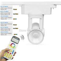 MiLight Alpha lite AL1 AL2 AL3 AL4 AL5 AL6 25W 2 Wire 4 Wire Dimmer Dual White RGBWW Tracklight 2.4G Wireless 99 Zone Remote