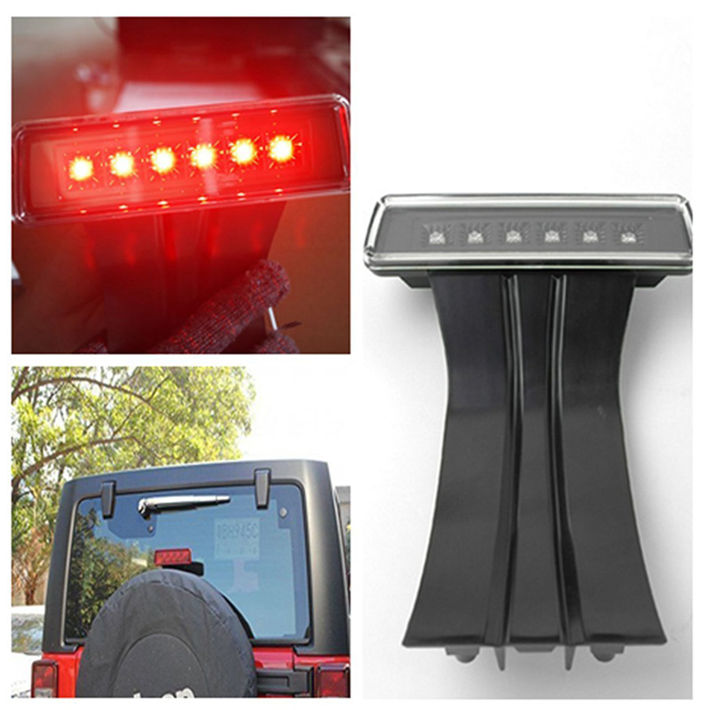 Rear Tail 3rd Brake Light Third Brake Stop Lamp For 2007-2016 Jeep Wrangler JK Sport Altitude Unlimited Rubicon Sahara 1 pc j208 abs plastic front matte black grille hood protector for 2007 2017 jeep wrangler jk rubicon sahara sport