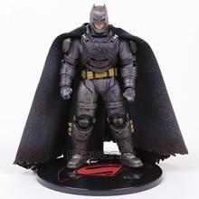 Mezco toyz Бэтмен против Супермена на заре справедливости Бэтмен бронированный 1:12 ПВХ фигурку Коллекционная модель игрушки с светодиодный свет