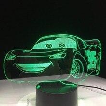 Супер автомобиль 3D ночной Светильник гоночный автомобиль USB светодиодная настольная лампа 3D иллюзия Лампа для детской спальни Декор искусственный свет s Прямая поставка