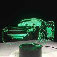 Супер-автомобиль 3D ночной Светильник гоночный автомобиль USB светодиодная настольная лампа 3D иллюзия Лампа для детской спальни Декор искусс...