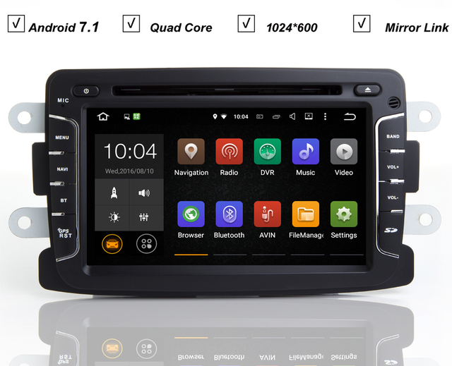 auto dvd gps android 7 1 player auto navi f r renault. Black Bedroom Furniture Sets. Home Design Ideas