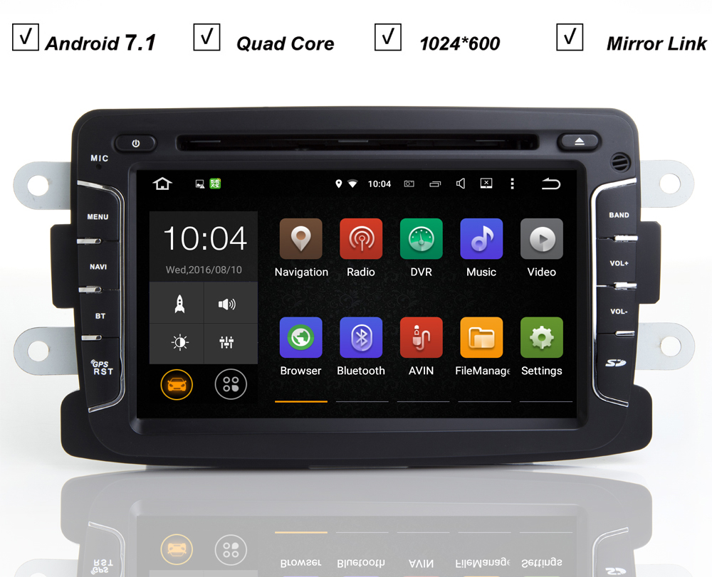 car dvd gps android 7 1 player auto navi for renault duster captur logan dacia duster sandero. Black Bedroom Furniture Sets. Home Design Ideas