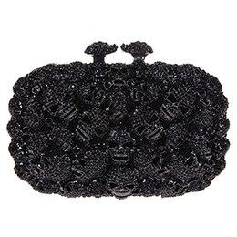 Fashion Skull Purses Women Handbags For Ladies Kisslock Crystal Evening Clutch Bags kisslock chain bag