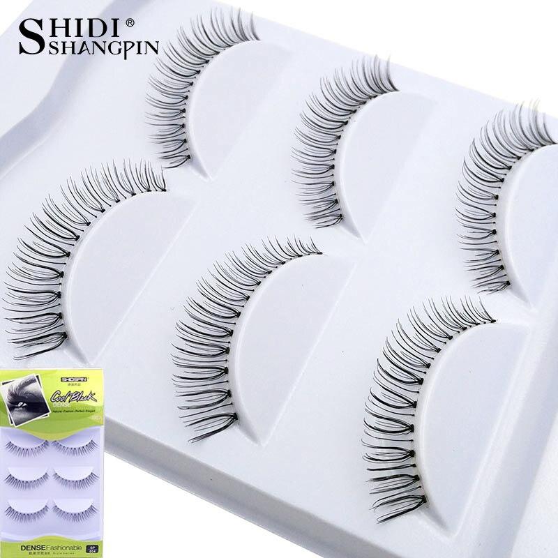 3 pairs Women Lady Natural False Eyelashes Makeup Winged soft Eye Lashes Beauty Eyelash Extension 804