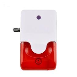 Mini wired strobe sirene 5 v 12 v 24 v 220 v alarme de som strobe piscando sirene de som de luz vermelha com controle de volume