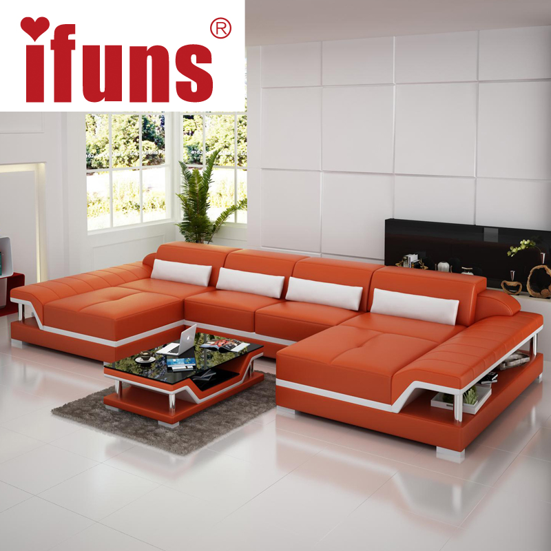 IFUNS U Shaped Black Couch Cheap Modern Design Sectional Sofa Corner  Quality Leather Luxury Sofa Sets For Living Room Furniture In Living Room  Sofas From ...