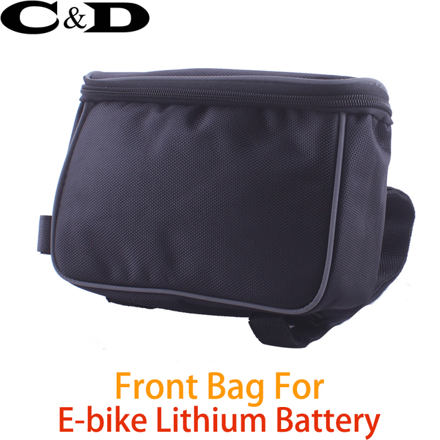 FREE SHIPPING! Handlebar bag front bag for loading lithium battery converting electric mountain bike